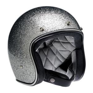 Casco moto aperto Biltwell Bonanza argento glitter