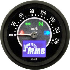 Contachilometri elettronico MMB Target corpo nero fondo nero