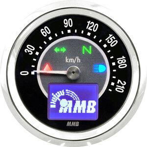 Contachilometri elettronico MMB Target corpo cromo fondo nero