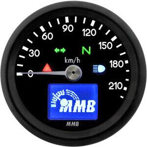Contachilometri elettronico MMB Basic corpo nero fondo nero