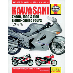 Manuale di officina per Kawasaki ZX 900-1100 '83-'97