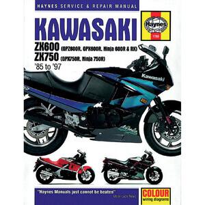Manuale di officina per Kawasaki ZX 600-750 '85-'97