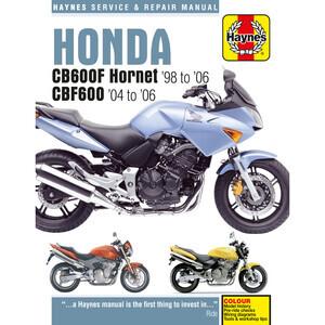 Manuale di officina per Honda CB 600 F Hornet -'06
