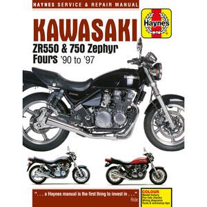 Manuale di officina per Kawasaki ZR 550-750 Zephy