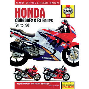 Manuale di officina per Honda CBR 600 F '91-'98