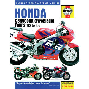 Manuale di officina per Honda CBR 900 RR -'99