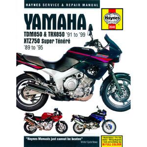 Manuale di officina per Yamaha XTZ 750 Super Tenerè