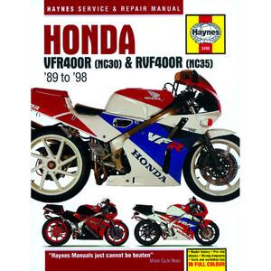 Manuale di officina per Honda VFR 400 '89-