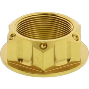 Steering head nut M25x1 alloy JMP gold