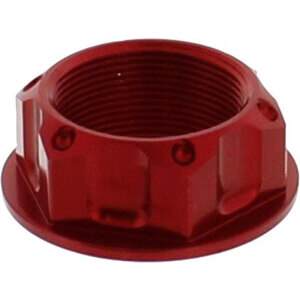 Steering head nut M25x1 alloy JMP red