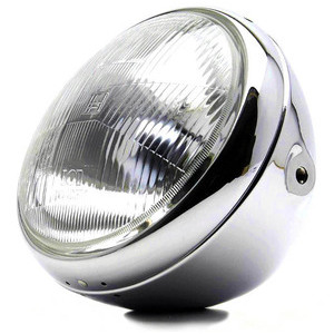 Halogen headlight 7'' British chrome