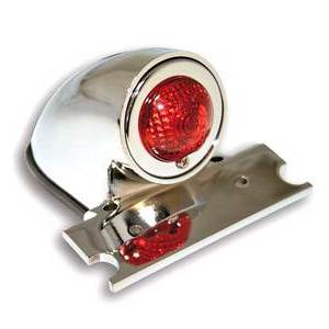 Halogen tail light Sportster license plate holder