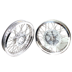 Complete spoke wheel kit Moto Guzzi Serie Grossa 18''x2.15 - 18''x2.50 CNC