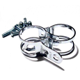 Winker holder clips Tarozzi 31-34mm pair chrome
