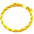 Ignition lead cable 7mm cotton braided yellow/black