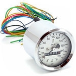 Mechanical speedometer MMB Sport K=0.7 M16 body chrome dial white