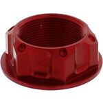 Dado canotto di sterzo M28x1 alluminio JMP rosso